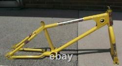 1980 Mongoose motomag frame fork original rare yellow Old School BMX