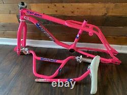 1987 GT PRO FREESTYLE TOUR FS STAMPED FRAMESET With EXTRAS OLD SCHOOL BMX TEAM 80s