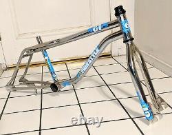 1987 GT Pro Freestyle Tour Frame & Fork chrome old mid school BMX Vintage Bike