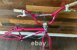 1987 Gt Performer Og Magenta Survivor Old School Freestyle Bmx Very Rare Color