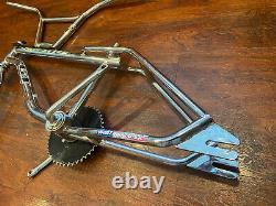 1994 GT Pro Freestyle Tour Frameset Frame Forks Bars Crankset Old School BMX
