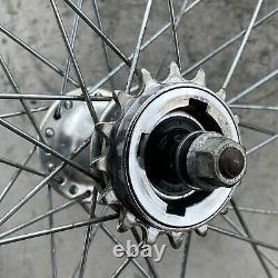 Araya 7x Rims Wheels Old School BMX Chrome 20 1.75 KK Hubs Nutted 80s 36 Hole