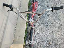DYNO VFR Old Mid School BMX Freestyle Bike Chrome Red Black NewTires 94 95 90s
