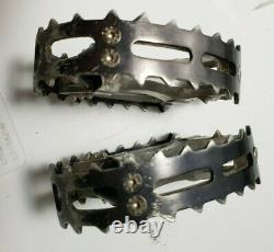 EARLY 1980's SUNTOUR XC-I 9/16 PEDALS WOW SILVER/BLACK OLD SCHOOL BMX