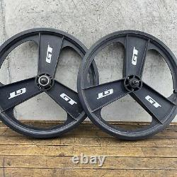 GT Fan Mags Old School BMX Rims 20 Performer Mag 3 Spoke Freestyle Made in USA