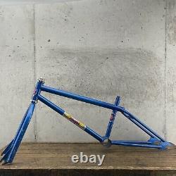 GT Frame Set Old School BMX BLUE 20 80s OG 4130 Coin 1981 Original Decals