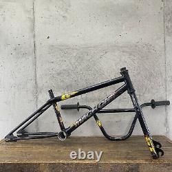 GT Mach One Frame Set + Bars AME Grips Old School BMX 80s Rare Black Made USA