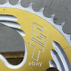 GT Overdrive Sprocket 44t Old Mid School BMX GOLD Chain Ring 44