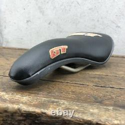 GT Speed Series Seat BMX CROMO Stitched Old Mid School Racing Viscount Saddle