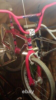GT pro freestyle tour 1987 bmx day glo pink performer old school