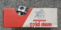 NOS Mongoose Gold Stem New in box Supergoose Team Motomag Old School BMX 80's