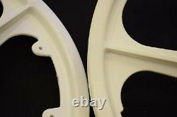 O. G. K OGK MAGS 20'' wheel set plastic vintage old school bmx white JAPAN NOS 80s