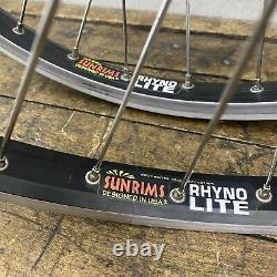 Old School BMX Cruiser Wheel Set 24 DLX Hubs Sun Rhyno Lite Rims Hoops USA