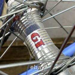 Old School BMX GT Race Lace Hubs Ambrosio Rims 20 36h BLUE Wheel Set