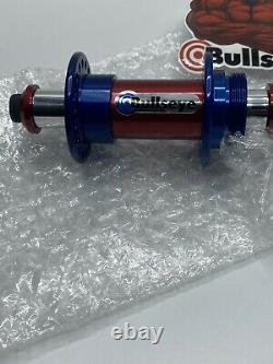 Old School Blue And Red ANO Bullseye BMX hubs Authentic New 36h Skyway Hutch