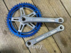 Old School Bmx MX Sugino Crankset 170mm Crank 44t Super Mighty Japan Used