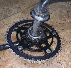 Old School Bmx black Hutch Chainwheel Spider with 1pc cranks Vintage Bmx Bike