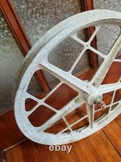 Old School Mongoose Motomag Bmx Front 20 Mag Wheel Vintage