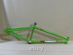 Old School Powerlite P61 BMX Bike Frame, September 1992, XL, Green