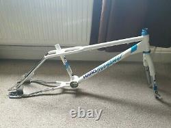 Old school bmx 85 haro freestyler frame and fork og paint decals and chrome