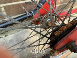 Raleigh Burner Mk1 BMX old school Survivor Red & Yellow early 1980s