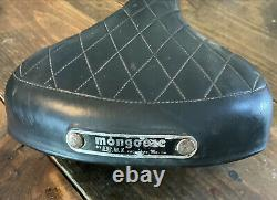 Rare Old School Mongoose Motomag Badged Seat 70-80s Bmx Decoster Supergoose