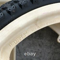 Skyway Mag Wheels OLD SCHOOL BMX 20 White Freestyle 80s 6 Spoke O. E. OE