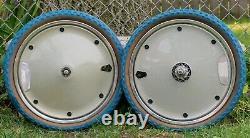 Vintage BMX Wheelset Huffy Sigma Old School Bike 1980s 20 Rim Cover Blue Wheels