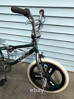 Vintage GT Vertigo Bmx Marble Green Old School Freestyle Bike Mags Dyno