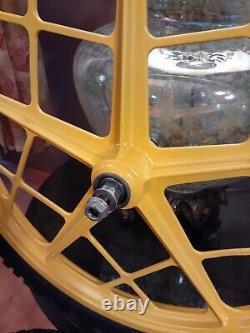 Vtg Mongoose Motomag 11's BMX wheel Set/Rims & Tires, Bendix Coaster, Oldschool