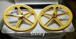 1977 Tuff Skyway Wheel I's Yellow Coaster Brake Old School Bmx Wow