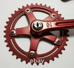 1980 Sr Apex 3 Piece Crank Set Old Schol Bmx Red 42t 170mm