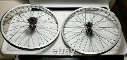 1980's Araya 7x Chrome Wheels Bullseye Hubs 20 Old School Bmx