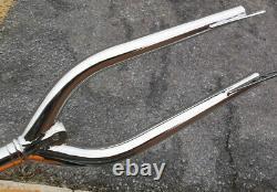 1984 85 Gt Fork 24 Old School Bmx Show Chromed Cruiser 24 1 Threaded Vintage