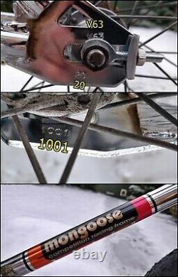 1985 Ammaco Mongoose Wire Wheel 100% Chrome Bmx Old School Bike Araya Gt Sr