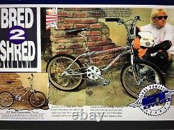 1993 Gt Pro Freestyle Tour Team Bmx Bike Frameset Old School Rare