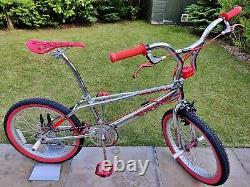 1998 Prolite Frestyler Twin Top 100% Chrome Bmx Vieille École Vélo Haro Gt Skyway