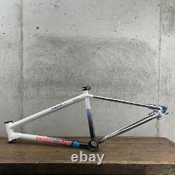 Cadre Rouge Old School Bmx 80s Blanc 20 600cxl Vintage Chrome-moly