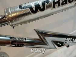 Cw Bmx Z Phase-1 Chrome Vieille École Bmx Bike 20 Profile Manivelle Grafight Tuffs New