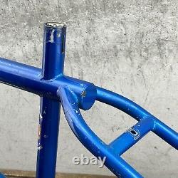 Ensemble De Cadres Gt Old School Bmx Blue 20 80s Og 4130 Pièce 1981 Décols Originaux