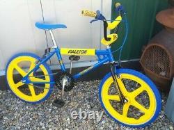 Mk1 Raleigh Bmx Old School Bmx Raleigh Brûleur Vélo Rétro Vintage Bike Années 1980