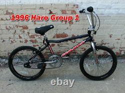 Old School 1996 Haro Group 1 Bmx Racing Bike, Principalement Original