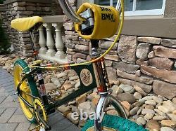 Old School Bmx 1979 Jag Apple Stick Green Complete Bike Rare