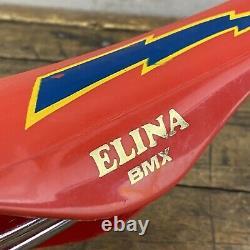 Old School Bmx Elina Seat Lightning Bolt Red 1982 7387 Og Japon Gt Redline A1