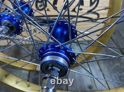 Old School Bmx MX Wheelset Weinmann 20 Pouces Jantes Maillard Hubs Nos 20 Roues