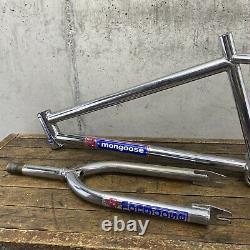 Old School Bmx Mongoose Frame Set 80s Chrome Loop Tail 20 Roue Bf6