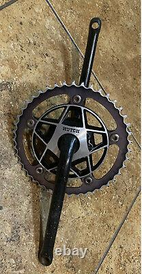 Old School Bmx Noir Hutch Chainwheel Spider Avec 1pc Manivelles Vintage Bmx Bike