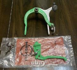 Old School Bmx Vert/blanc 11/85 Dia Compe 883 Nippon Brake. Nos Tech 6 Levier
