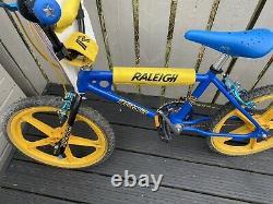 Raleigh Brûleur Blue Old School Bmx, Lovely Rebuilt Bmx