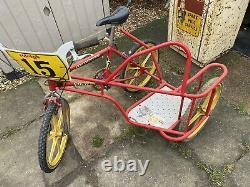 Raleigh Burner Bmx Bike With Sidecar Side Hack Rare Barn Find Old School Vw